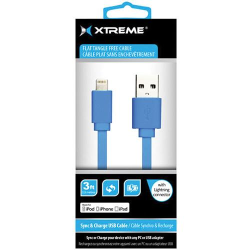 Xtreme Cables 3' USB to 8-Pin Lightning Flat Tangle Free 59862