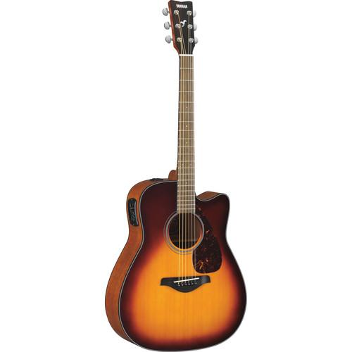 Yamaha FGX700SC Solid-Top Acoustic/Electric Cutaway FGX700SC BS