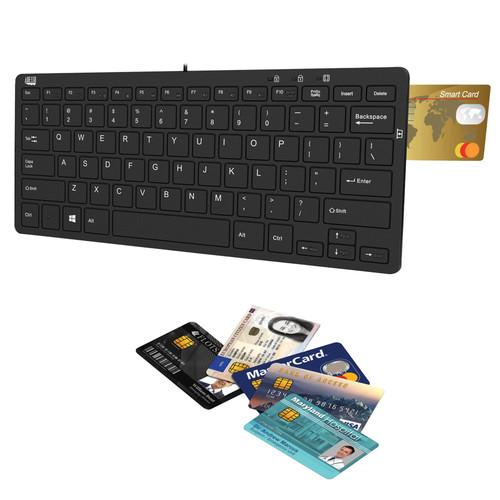 Adesso SlimTouch 510R Mini Keyboard with Smart Card AKB-510RB