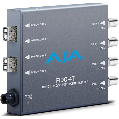 AJA FiDO Quad Channel 3G-SDI to LC Fiber Mini Converter FIDO-4T