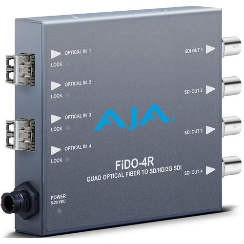 AJA FiDO Quad Channel LC Fiber to 3G-SDI Mini Converter FIDO-4R