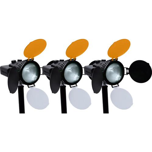 AXRTEC Location 30W LED Fresnel 3-Light Kit AXR-K-LOC