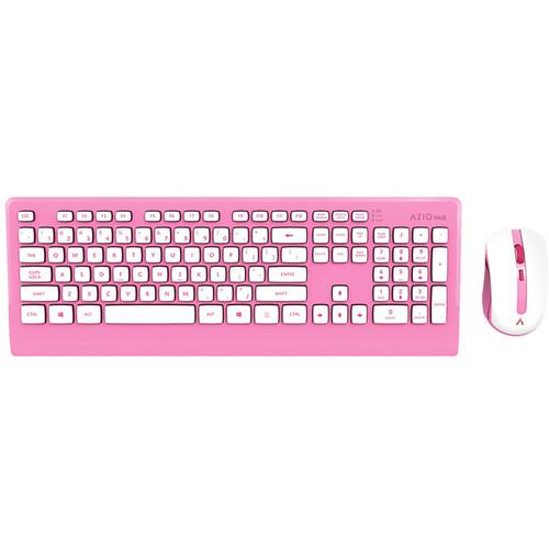 AZIO HUE Wireless Keyboard and Mouse (Candy Pink) KM507PN