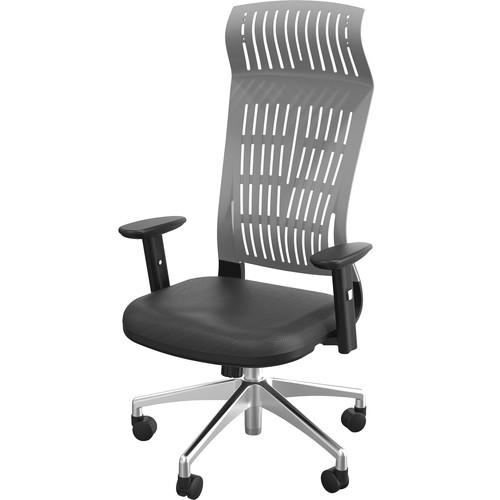 Balt Fly High Back Office Chair with Adjustable Arms (Gray)