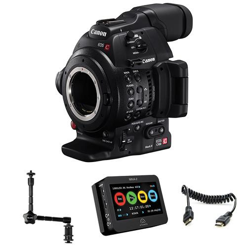 Canon EOS C100 Mark II Cinema EOS Camera and Atomos 0202C013