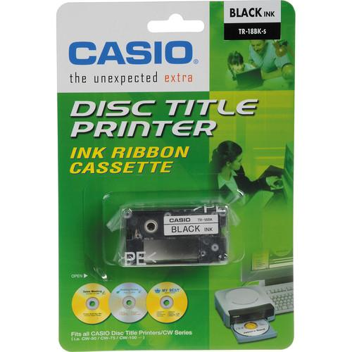 Casio TR-18BK Black Ink Ribbon Cassette Kit for CW-50 TR-18BK-3P