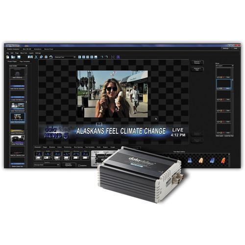 Datavideo CG-350TC Kit with CG-350 HD/SD Character CG-350TC KIT