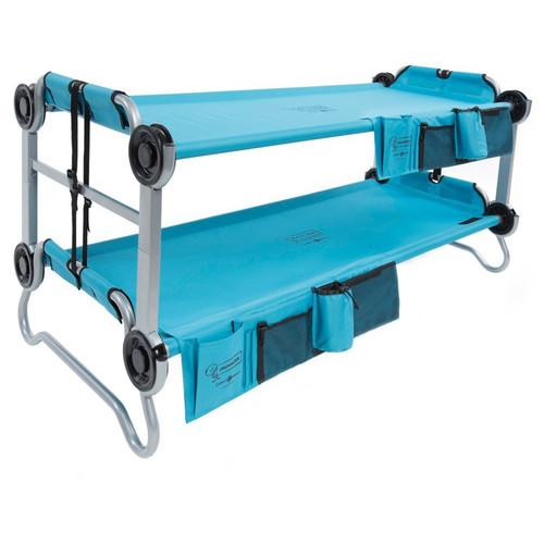Disc-O-Bed Teal Blue Kid-O-Bunk with Organizers 30105BO