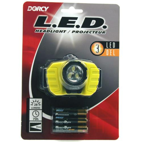 Dorcy 41-2099 28-Lumen LED Headlight (Yellow) 41-2099