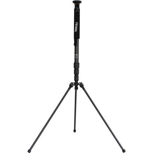 FEISOL CM-1443 Rapid Carbon Fiber Monopod with Three-Leg CM1443
