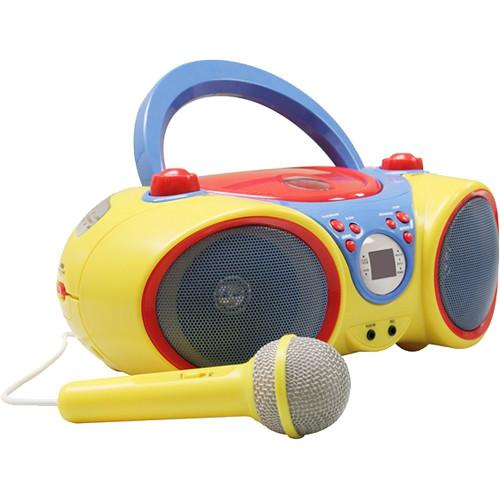 HamiltonBuhl Kids Audio CD Player and Karaoke Machine KIDS-CD30
