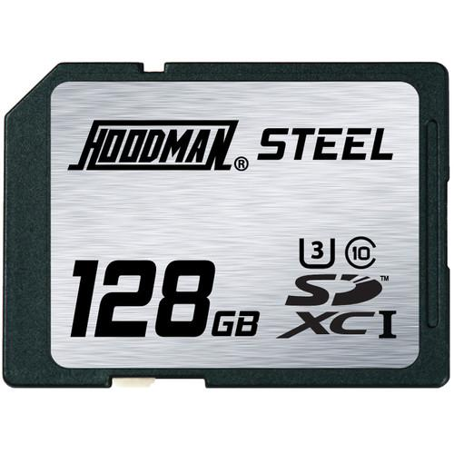 Hoodman 128GB SDXC Memory Card RAW STEEL Class 10 RAWSDXC128GBU1