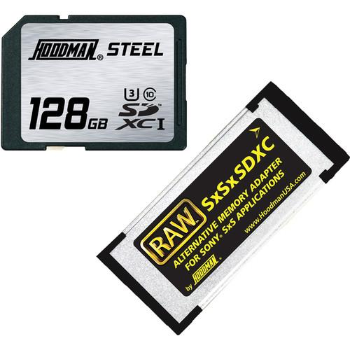 Hoodman 128GB SDXC Memory Card RAW STEEL Class 10 SXSKIT128U1