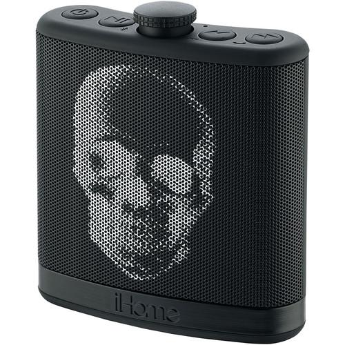 iHome iBT12 SoundFlask Bluetooth Stereo System (Skull) IBT12KBC