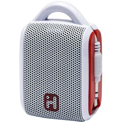 iHome iM54 Rechargeable Mini Speaker (White/Red) IM54WRC
