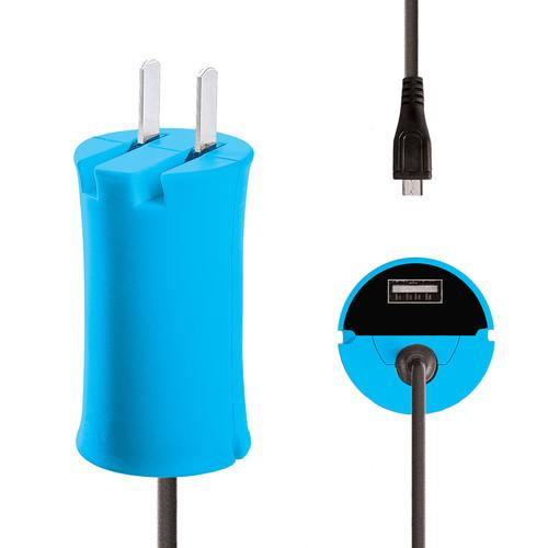 iJOY Micro-USB Wall Charger Set (Blue) WCST- MCLT- BLU
