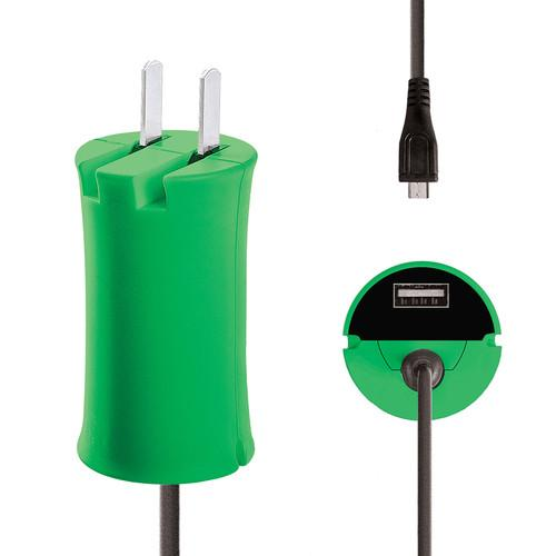iJOY Micro-USB Wall Charger Set (Green) WCST-MCLT-GRN