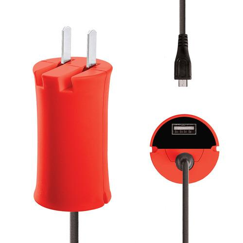 iJOY Micro-USB Wall Charger Set (Red) WCST- MCLT- RED
