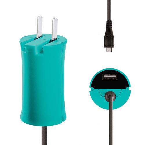 iJOY Micro-USB Wall Charger Set (Turquoise) WCST- MCLT- TUR