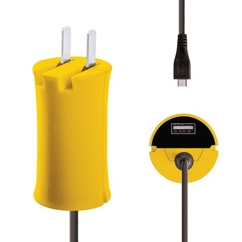 iJOY Micro-USB Wall Charger Set (Yellow) WCST- MCLT- YLW