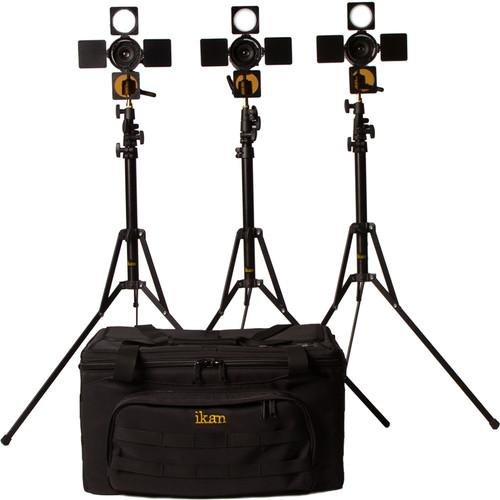 ikan iLED6-KIT iLED6 3 x Zoom ENG LED On-Camera Light ILED6-KIT