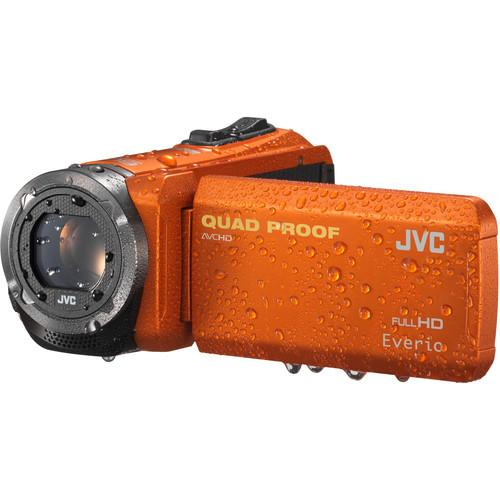 JVC GZ-R320DUS Quad-Proof HD Camcorder (Orange) GZR320DUS
