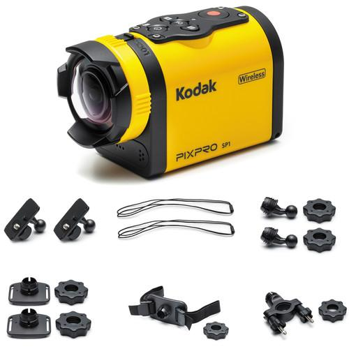 Kodak PIXPRO SP1 Action Camera with Explorer Pack SP1-YL3