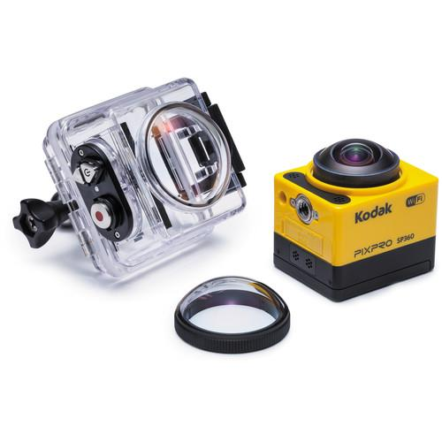 Kodak PIXPRO SP360 Action Camera with Aqua Sport Pack SP360-YL4