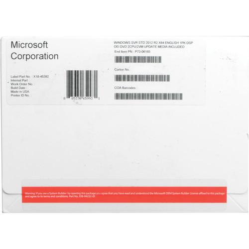 Microsoft Server 2012 R2 Standard 64-Bit License & P73-06165