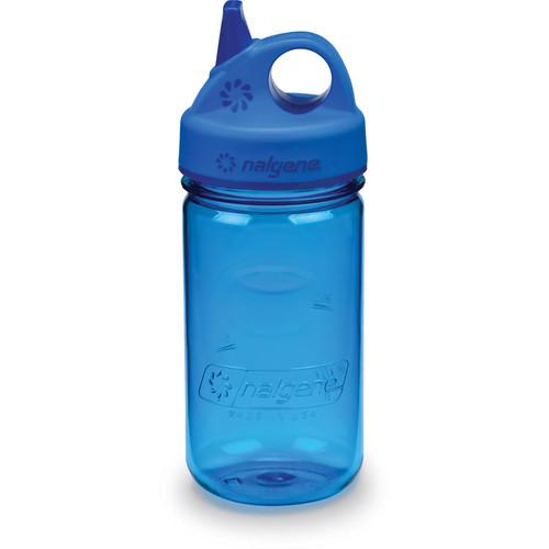 Nalgene 2182-7012 Grip 'n Gulp Bottle (12 oz, Blue) 2182-7012
