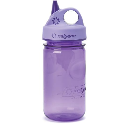Nalgene 2182-8012 Grip 'n Gulp Bottle (12 oz, Purple) 2182-8012