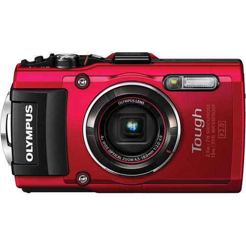 Olympus Stylus TOUGH TG-4 Digital Camera Deluxe Kit (Red)