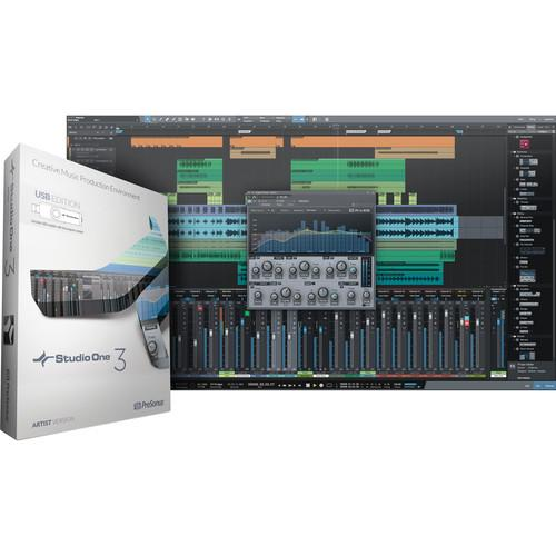 PreSonus Studio One Artist 3 - Audio and S1 ART3.0 MED INSIDE
