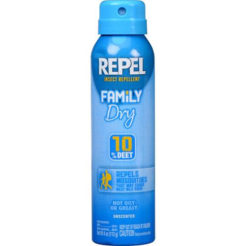 Repel Family Dry Insect Repellent Aerosol with 10% DEET HG-94120
