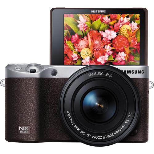 Samsung NX500 Mirrorless Digital Camera with 16-50mm Power Zoom