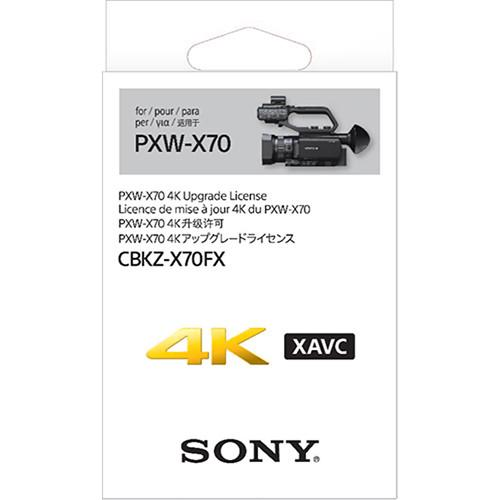 Sony 4K Upgrade License Key for Sony PXW-X70 CBKZ-X70FX