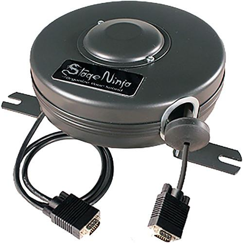 Stage Ninja Retractable VGA Cable Reel (15') VGA-15-S