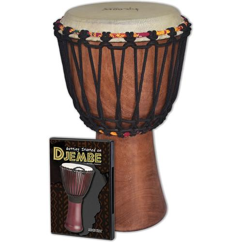 Tycoon Percussion Djembe Instrument Starter Kit TAJ-8 WDVD