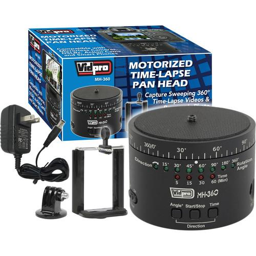 Vidpro MH-360 Motorized Time-Lapse Pan Head MH-360