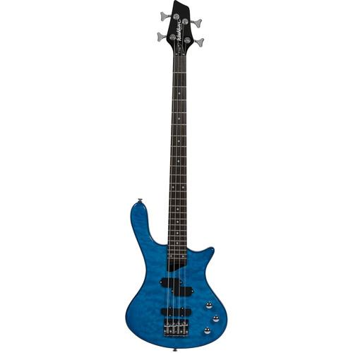 Washburn T14QTBL Electric Bass Guitar (Trans-Blue) T14QTBL