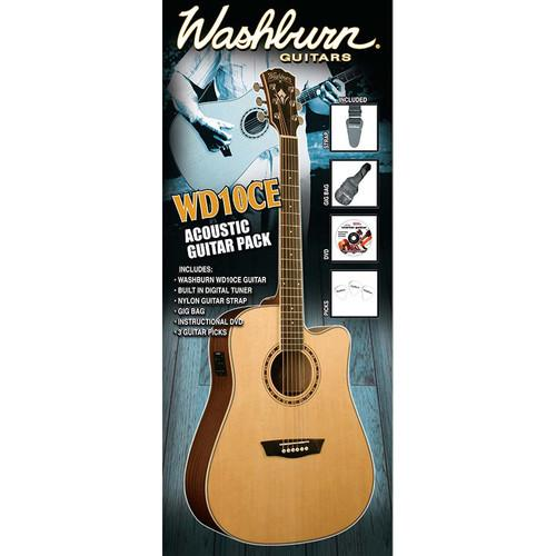 Washburn WD10CE Acoustic/Electric Guitar Pack WD10CEPACK