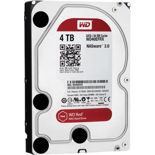 WD 4TB Network HDD Retail Kit (4-Pack, WD40EFRX, Red Drives)