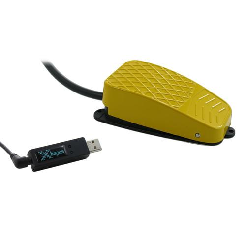 X-keys USB 3 Switch Interface with Yellow XK-1309-CFYL-BU