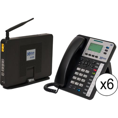 XBLUE Networks X-25 System Bundle with Six X3030 VoIP V2506