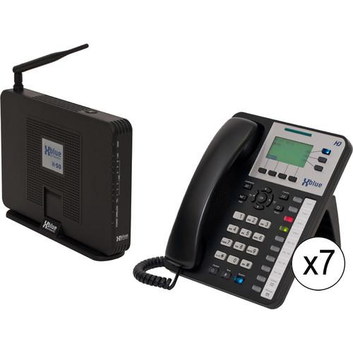 XBLUE Networks X-50 System Bundle with Seven X3030 VoIP V5007