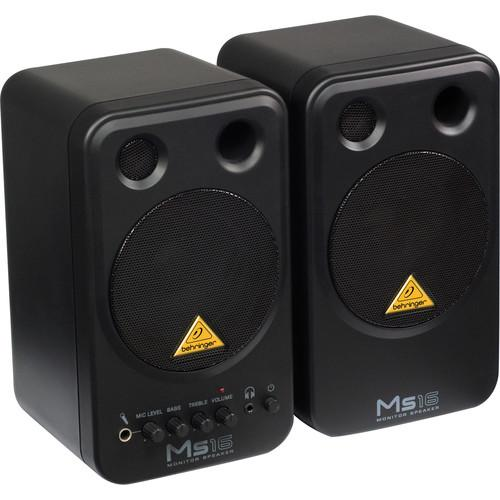 Behringer MS16 2-Way Active Nearfield Monitors (Pair) MS16