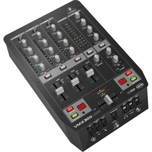 Behringer VMX300USB - Three Channel DJ Mixer VMX300USB