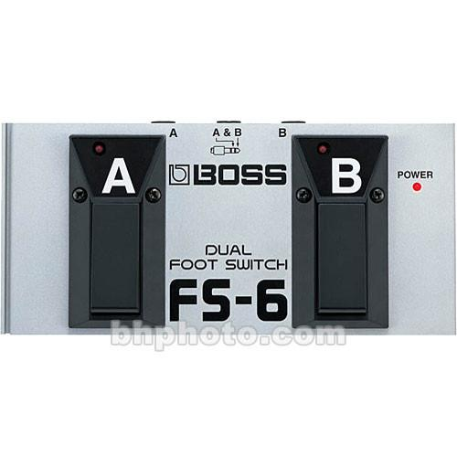 BOSS FS-6 - Dual Latch and Momentary Footswitch Pedal FS-6