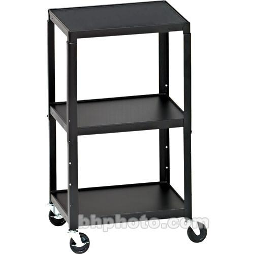 Bretford Adjustable AV Cart with 3 Shelves and 2-outlet A2642E