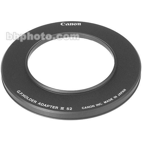 Canon 52mm Adapter Ring for Gelatin Filter Holder III 2708A001
